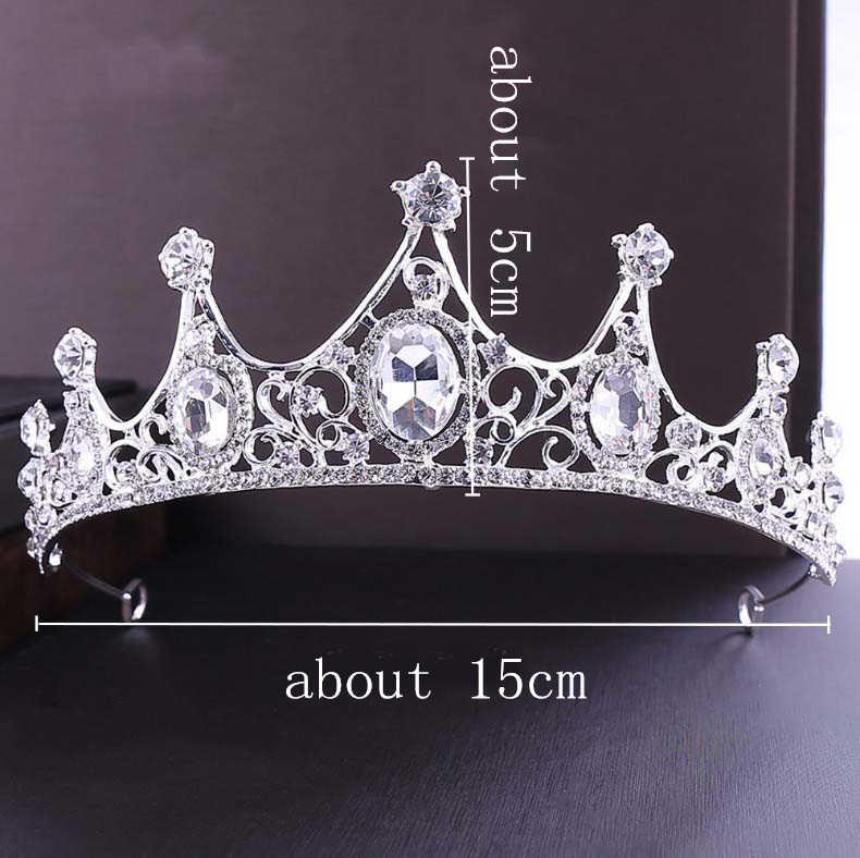 Zielone srebrne wesele dla nowożeńców kryształowa tiara korony księżniczka królowa na imprezę bal tiara z kryształkami z pałąkiem na głowę akcesoria biżuteria do włosów