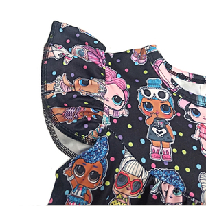 Image 2 - Hot sale baby dress girls printing pattern dresses kids party dress for kids children frocks designs