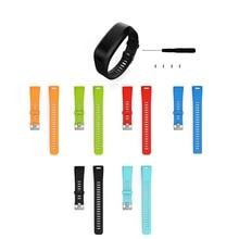 Accessories Adjustable Soft Silicone Replacement Wrist Watch Strap Designed For Garmin Vivosmart HR Smart Sport 1EW