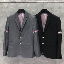 Blazer Men Jacket Suit Coat THOM Casual Brand TB Fashion Wool Formal Autumn Spring British