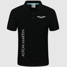 Летняя рубашка поло с логотипом Aston Martin, брендовая мужская Модная хлопковая рубашка поло с коротким рукавом, однотонные футболки из Джерси