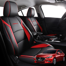 Car-Seat-Cover Leather-Accessories Mazda Auto Sport for Fit-Special Custom Axela High-Quality