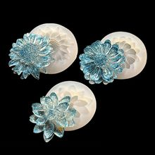 4Pcs Flower Epoxy Resin Mold Kits Camellia Sunflower Rose Pendant Mold Jewelry Making Tools