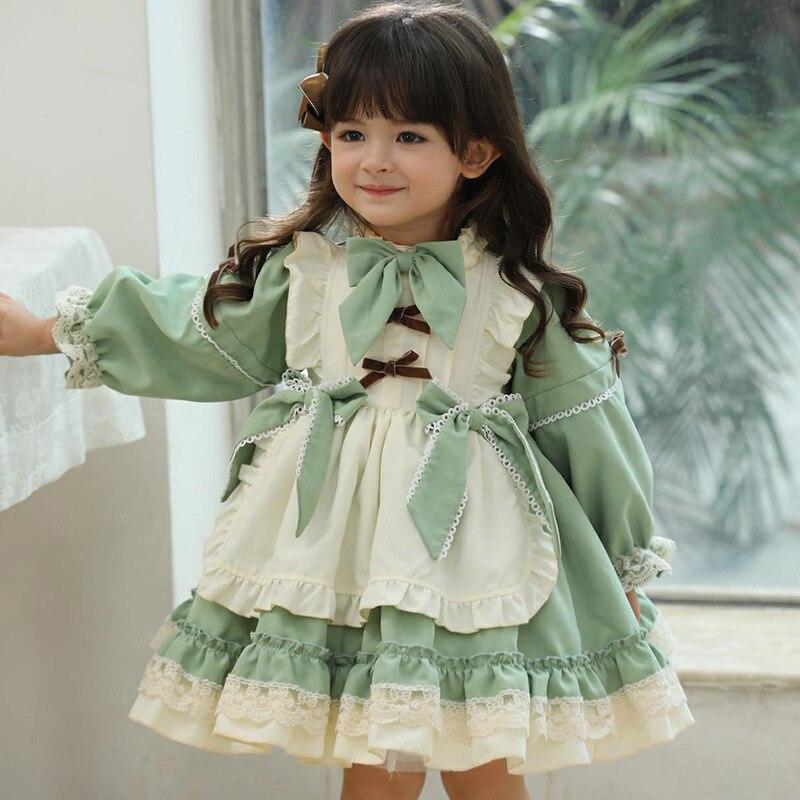 I bambini vestono la neonata originale Lolita Princess Ball Gown spagnolo Vintage Patchwork autunno inverno carino abiti per bambini abiti