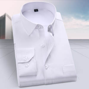 Shirt Work-Wear Long-Sleeve Business-Career Fashion New Cotton for Men's Youth Pure-Color