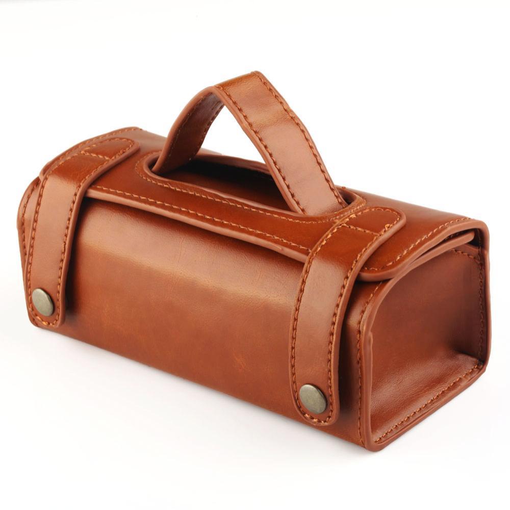 Купить с кэшбэком Mens PU Leather Travel Toiletry Bag Shaving Wash Case Organizer Bag Black / Dark Brown