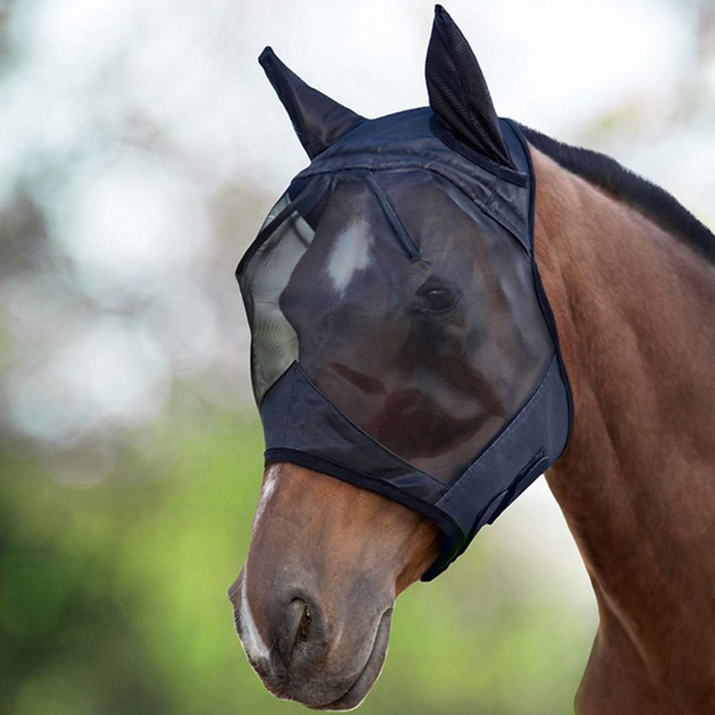 1Pcs 00080 Horse Face Mask, Breathable Horse Face Mask, Horse Face Mask, Anti-Mosquito Horse Face Mask