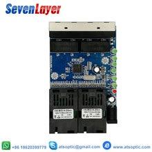 Commutateur Ethernet convertisseur de médias à fibers optiques Mode unique 4 RJ45 et 2 SC Port de fibers 10/100M PCBA 10 pièces