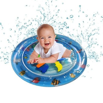 Baby Kids Water Play Mat Toys Inflatable thicken PVC infant Tummy Time Playmat Toddler Activity Play Center water mat for babies image