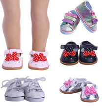 Shoes Doll-Clothes Reborn Baby American Accessories Girl New for 18-43cm BJD Suit Outfit