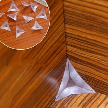 50pcs PVC Transparent Corner Dustproof Plug Wardrobe Cabinet Drawer Pad Household Cleaning Tool
