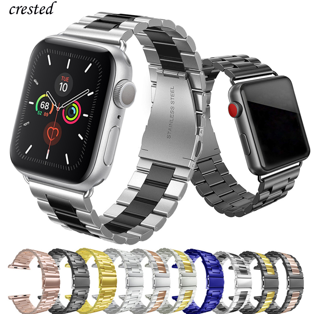 Strap For Apple Watch Band 44 Mm 40mm IWatch Band 38mm 42mm Stainless Steel Metal Bracelet Apple Watch 5 4 3 2 1 38/40 42/44mm