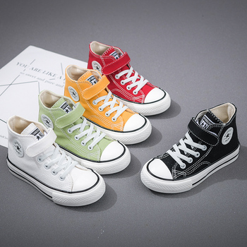 Children Canvas Shoes Girls Sneakers 2020 New Autumn Breathable Kids Shoes for Boys High Quality Student Casual Sneakers Zapatos 2020 slip on canvas children shoes sports breathable boys sneakers kids shoes for girls casual child flat canvas shoes d02291
