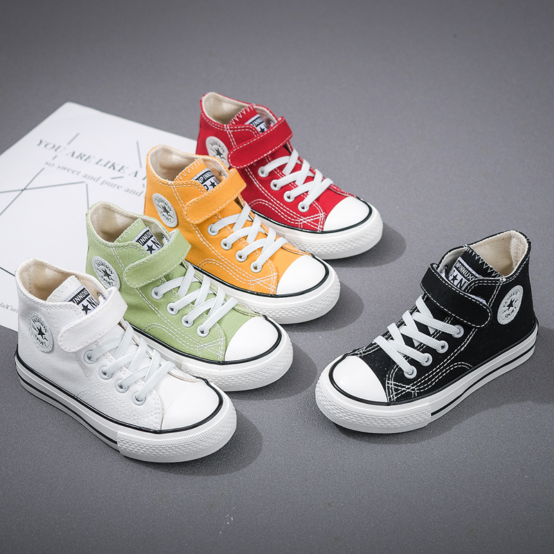 Children Canvas Shoes Girls Sneakers 2021 New Autumn Breathable Kids Shoes for Boys High Quality Student Casual Sneakers Zapatos
