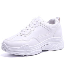 2020 New Spring Fashion Women Casual Shoes Leather Platform Shoes Women Sneakers Ladies White Trainers Chaussure Femme AC-6(China)