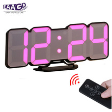 Alarm-Clock Controller Led Digital Variations Wall Wireless of EAAGD 3D Mode 115-Color