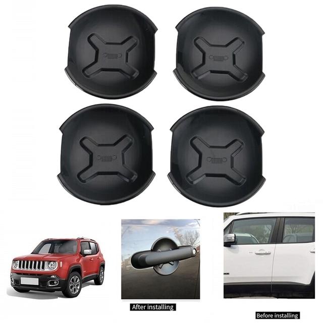 Car Exterior Door Handle Bowl Cover Trim Frame Decor for Jeep Renegade 2016 2017 Car Accessories(4Pcs/Set) 1