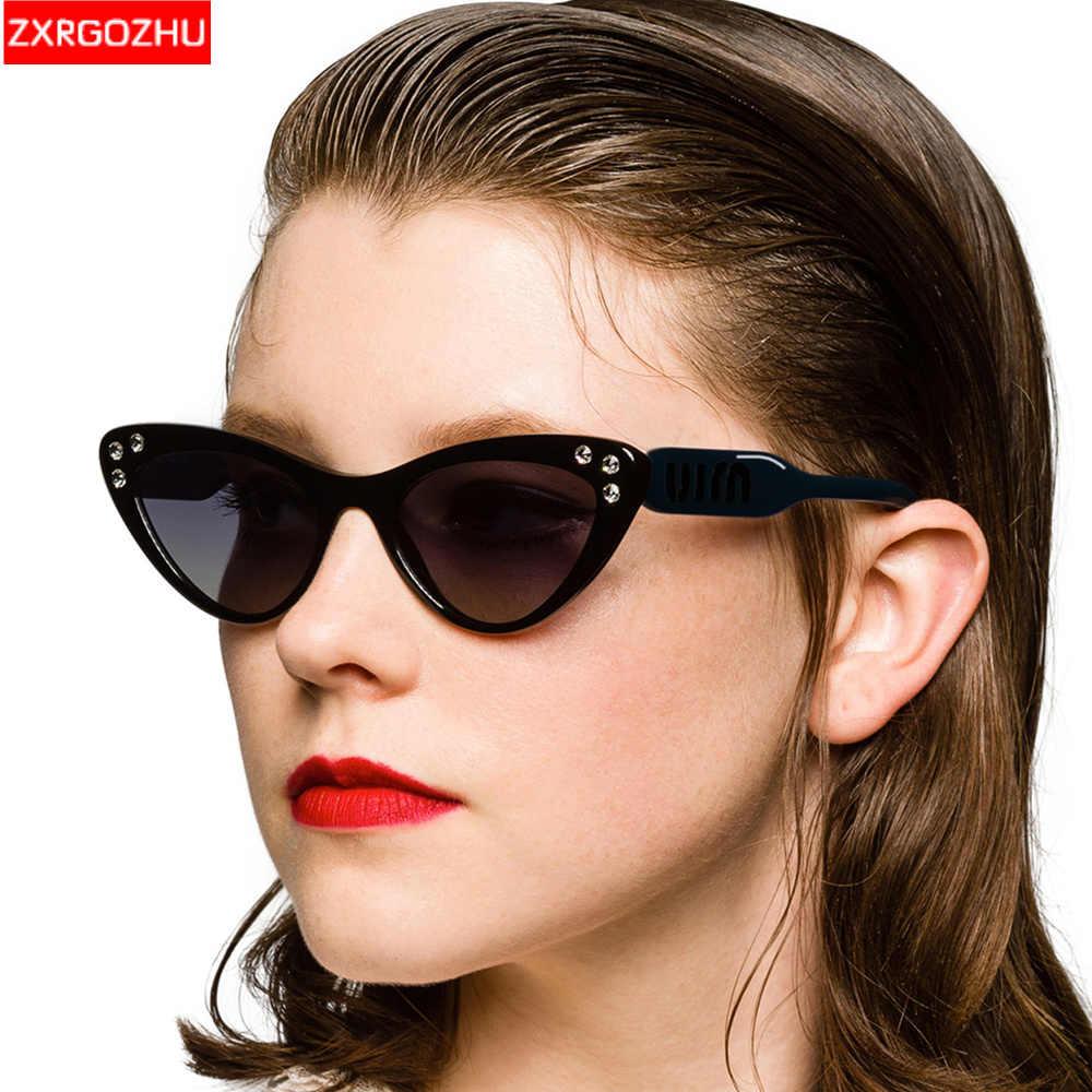 2020 nowe okulary w kocich oprawkach damskie plastikowe okulary przeciwsłoneczne w stylu Vintage z kryształem luksusowej marki cukierki kolor Outdoor Shades okulary