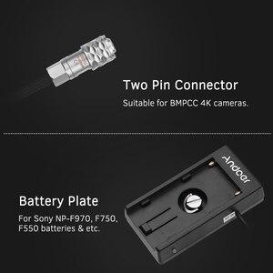 Image 5 - Andoer Blackmagic Cinema Camera Bmpcc 4K Voeding Mount Plaat Adapter Met Lente Kabel Voor Sony NP F970 F750 F550 batterij