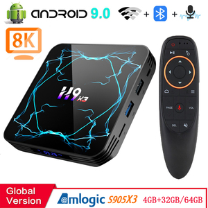 Android 9.0 TV BOX Amlogic S905X3 8K H.265 Media Player 3D Video Youtube Netflix 2.4G&5.8G wifi 4GB RAM 32GB 64GB Set Top Box(China)
