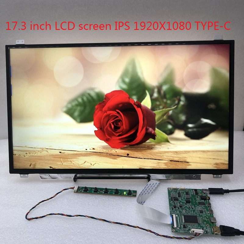 17.3 ips ips tela lcd 17.3-inch 1920x1080 display usa hdmi TYPE-C unidade painel lcd controlador edp30 pino