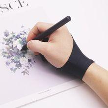 Перчатки для рисования с 2 пальцами, противообрастающие, для художника, для любой графической живописи, цифровой аблет для правой и левой руки LX9A