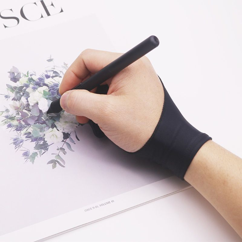2 Fingers Drawing Glove Anti-fouling Artist Favor Any Graphics Painting Writing Digital Ablet For Right And Left Hand LX9A