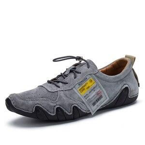 Image 2 - Туфли мужские из натуральной кожи, повседневные Мокасины, удобная обувь на плоской подошве, большие размеры 46