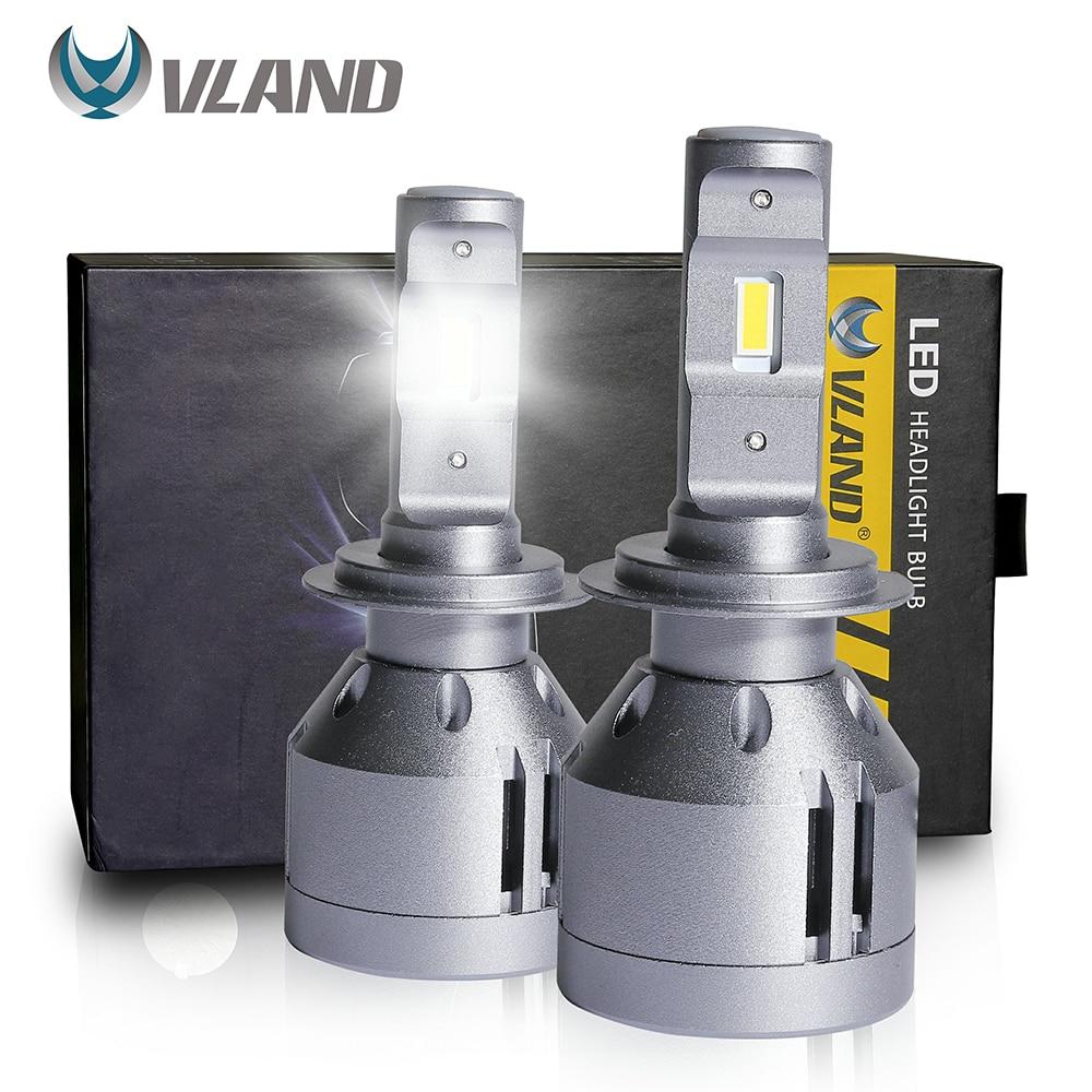 VLAND H7 Светодиодные Автомобильные фары s, передние светильник ры, дальний/ближний свет, 6500 лм, K, суперуниверсальные белые лампы для фар, светил...