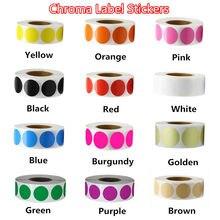 12 cores 500 pces/rolo chroma etiqueta código de cor ponto etiquetas etiquetas podem escrever 1 Polegada professor material de escritório papelaria adesivo