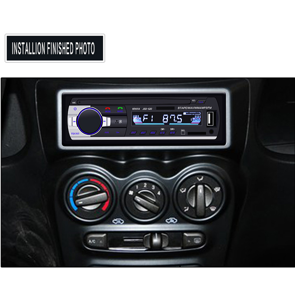 Hikity 1 DIN автомобильный Радио MP3-плеер Стерео пульт дистанционного управления цифровой Bluetooth автомобильный аудио музыкальный стерео 12V USB/SD/...