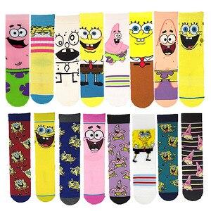 Анимационные персонажи мультфильмов модные креативные оригинальные носки сетчатые носки унисекс катания на скейтборде уличной носки для ...