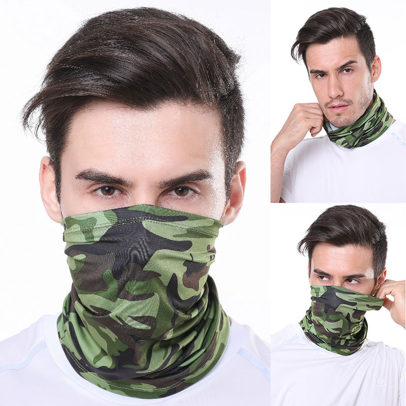 Unisex Summer Bandana Fishing Sport Cycling Face Mask Neck Gaiter Headband Dustproof Sunblock Face Shield