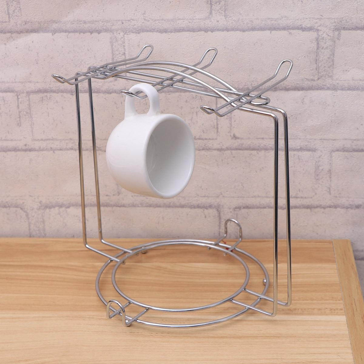 Cup Plate Storage Rack Houseware Shelf Mug Rack Coffee Cup Holder Kitchen Accessories Home Decor Organizer