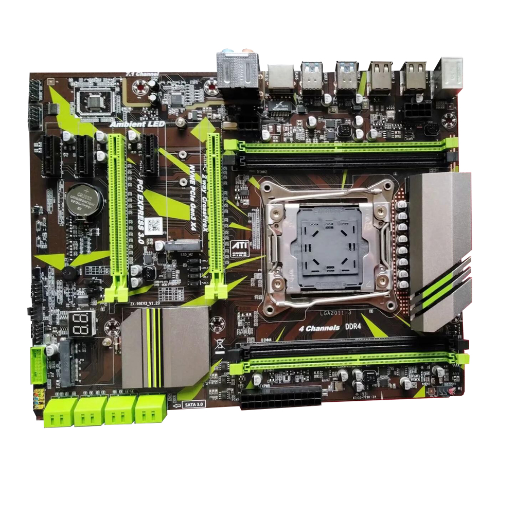 X99 Lga2011-V3 CPU Interface Mainboard Repair Stable Motherboard Professional Desktop Computer Module Systemboard 4 Channel Ddr4
