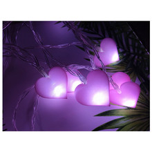 Novelty LED Fairy Lights Love Heart Wedding Light String Pink Girl String Light Indoor  Garden Garland Lighting Party Decoration цена 2017