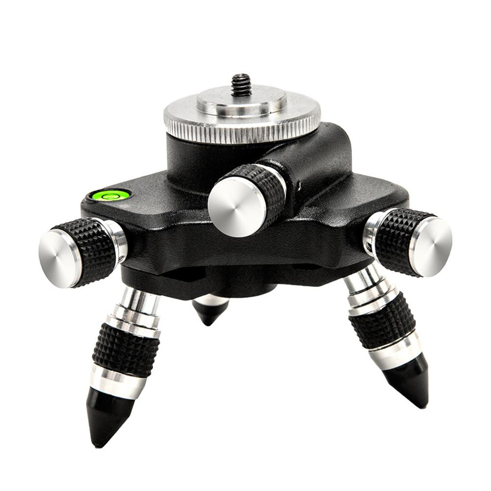 Laser Level AdapterMetal 360-Degree Rotating Base For Laser Level Tripod Connector, 1/4 Threaded Mount And Horizontal Bubble #40