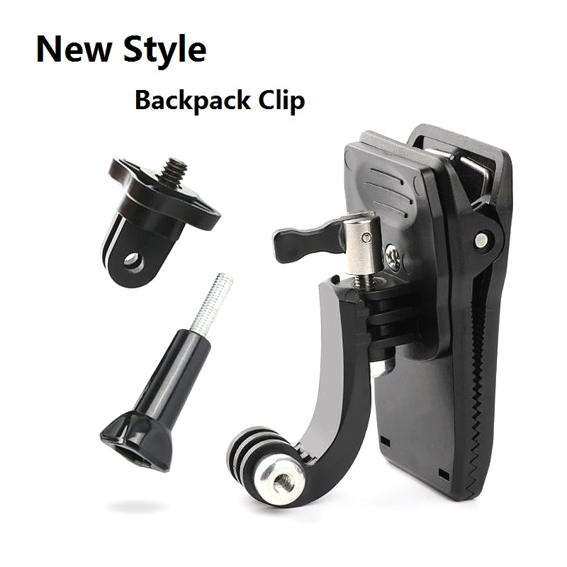 Clownfish Quick Attached Bag Clip For GoPro Hero 8 7 6 5 4 Session Xiaomi Yi 4K SJ4000/5000/SJ8/9 H9 Mijia Camera Backpack Clamp