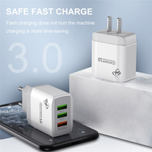 Ottwn 3 USB port Quick Charge QC3.0 Wall Charger Fast Charge Charging Adapter Phone Charger USB Charger For iphone Xiaomi US EU quick charge 3 0 usb charger travel for iphone samsung micro usb type c fast charging 3 ports eu us plug mobile phone charge
