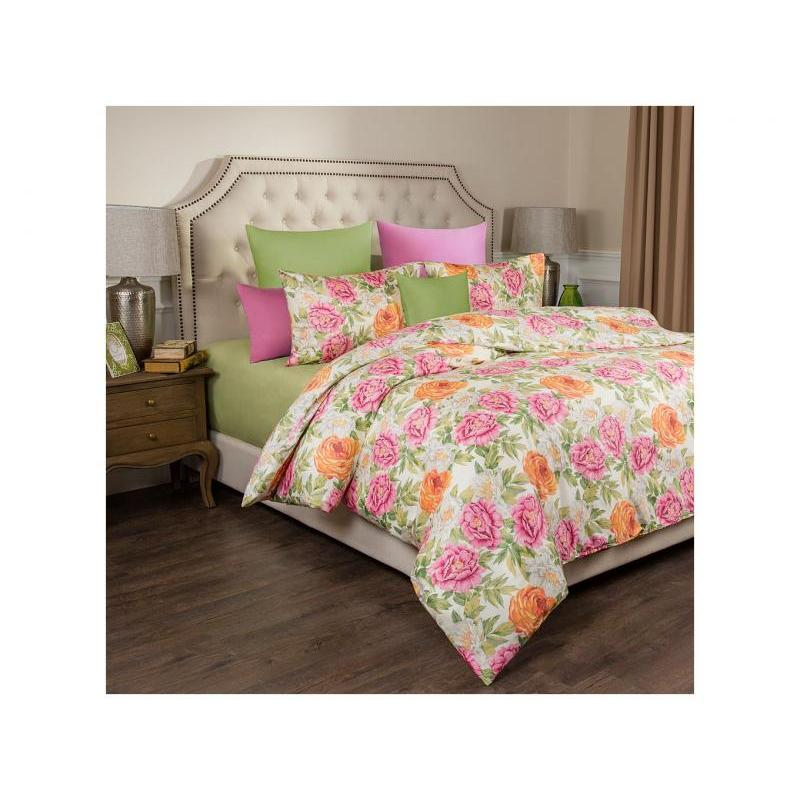 Bedding Set Double-euro SANTALINO, PEONY, Green