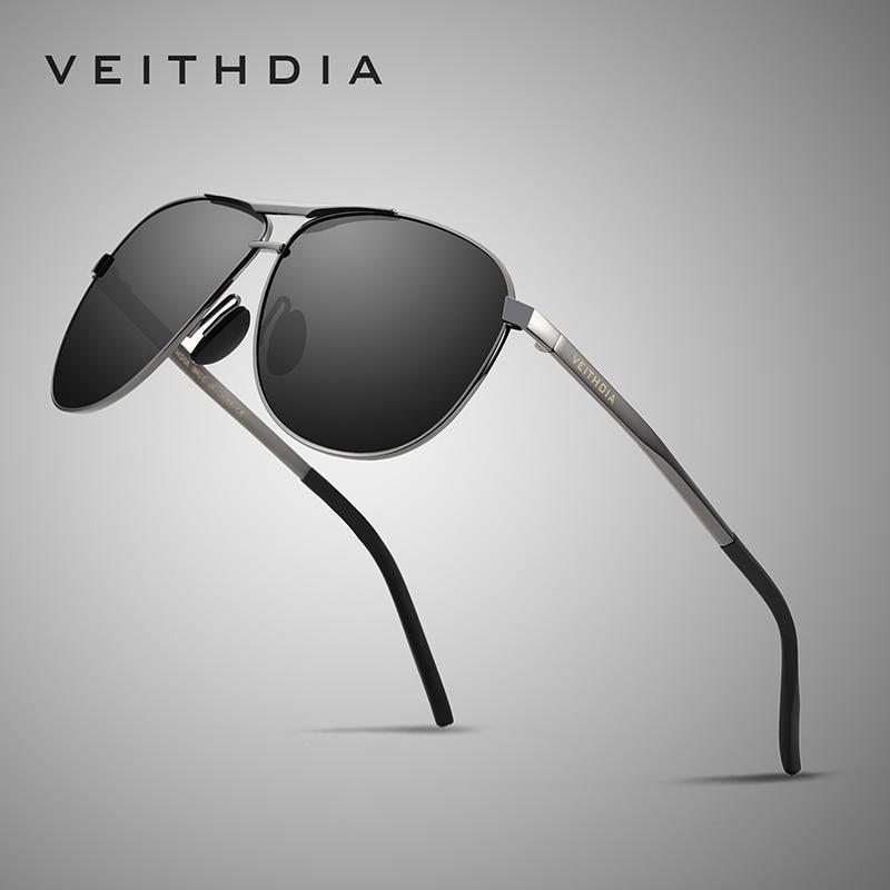 VEITHDIA Men Vintage Alloy Polarized Sunglasses Classic Brand Sun glasses Coating Lens Driving Eyewear For Men 3028