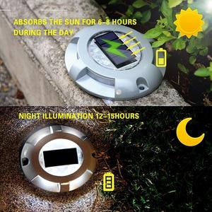 Image 4 - Led אלומיניום כביש שמש אורות דשא עמיד למים Led שמש מנורות חיצוני שמש כוח אור עבור חסון כביש בחניה נתיב פלאזה