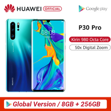 Global Version Huawei P30 Pro Smartphone 50x digital Zoom 8GB 256GB Quad Camera 6.47'' Full Screen OLED Kirin 980 Octa Core NFC