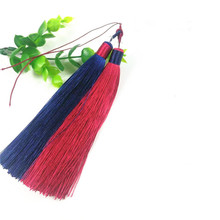 New handmade two-color Chinese knot tassel pendant car pendant accessories high quality craft for DIY jewelry making materials