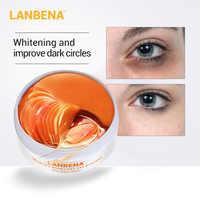 LANBENA Vitamina C Eye Mask Collagen Dark Circles Eye Patches Skin Care Whitening Gold Mask Moisturizing Brighten Eye Care 60pcs