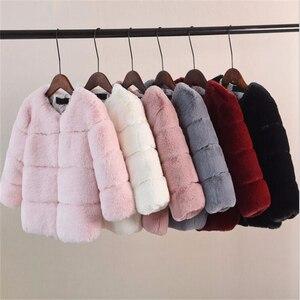 Image 1 - หญิงเสื้อขนสัตว์สำหรับเสื้อผ้าเด็กเสื้อ 2020 ใหม่เด็กเสื้อแจ็คเก็ตWarm Thicken Coatสีทึบเด็กFauxขนสัตว์outwear Coat