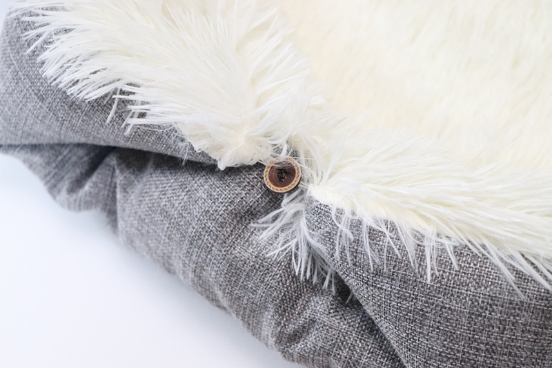 New Soft Cat Bed Rest Dog Blanket Winter Foldable Double use of pet bed matCushion Hondenmand Plush Soft Warm Sleep Mat 7