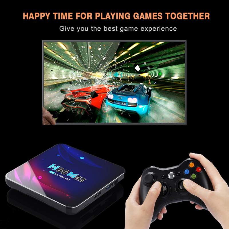 Electroniks-india h96 max v11 smart tv box android 11 4g+64gb android 11 4k wifi 2.4g 5g google voice set top box