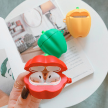 For AirPods Earphone Case pepper Accessories Silicone case Apple Airpods Funny cartoon Protect Cover