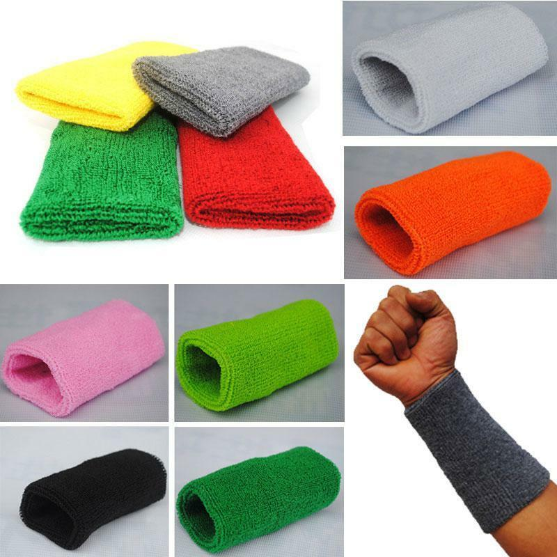 Brand New 15cm Basketball Gym Unisex Sports Cotton Sweat Band Sweatband  Wrist Sports Bracers Cotton